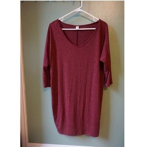 Maroon/Red Oversized Sweater Dress 👗